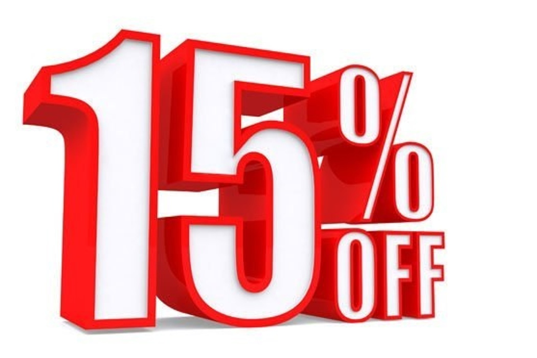 Будни — скидка 15%!